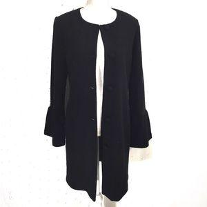 Nanette Lenore Black Wool Midi Coat Sz M